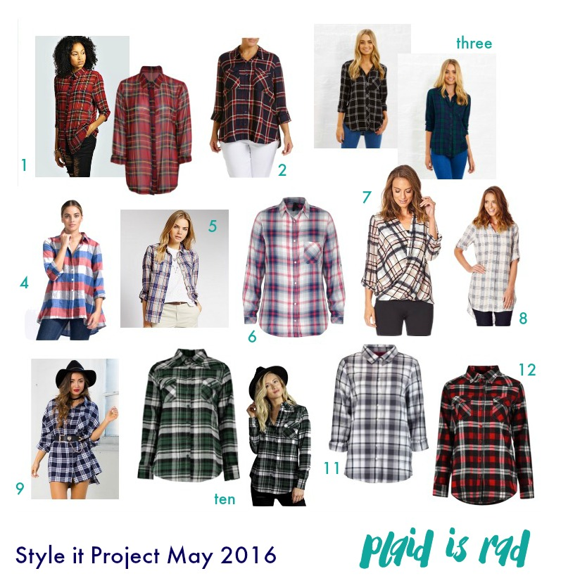 Kimba Likes Style it Project with The Illusive Femme - May 2016 Check Shirt Shop My Style