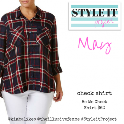 Kimba Likes Style it Project with The Illusive Femme - May 2016 Check Shirt