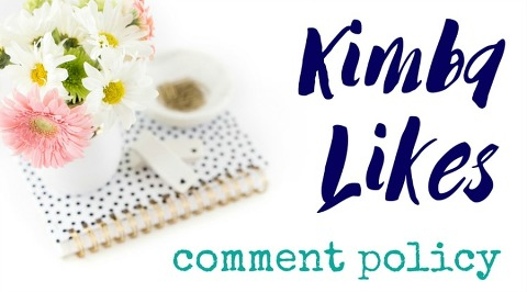 Kimba Likes comment policy