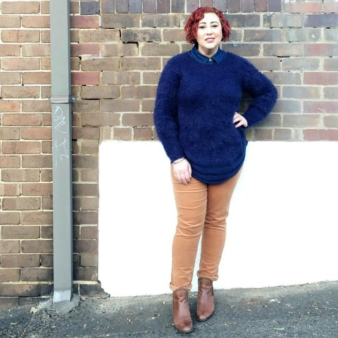 Kimba Likes - sharing how I styled my Three Parsons fluffy knit, featuring gifted fashion from Planet Shoes, Rockmans and Millers