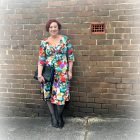 Kimba Likes Voodoo Vixen - wearing the beautifully floral retrocute Judy frock