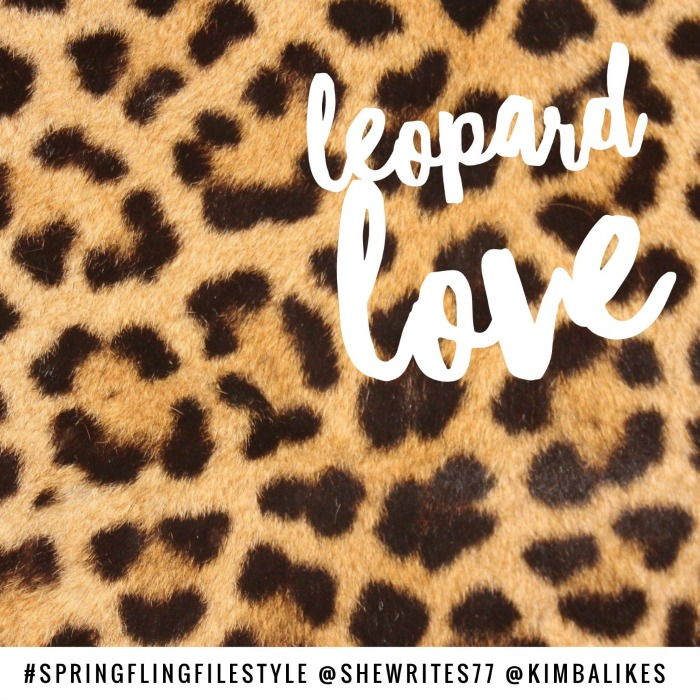 She Writes and Kimba Likes Spring Fling Style File | leopard love