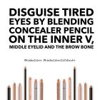 Kimba Likes Beauty Hacks - use a concealer pencil to disguise tired eyes