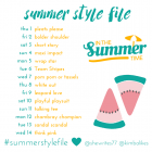 Summer Style File 14 day challenge with Kimba Likes and She Writes