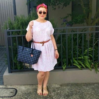 Kimba Likes wearing pink for Summer Style File 14 day style challenge