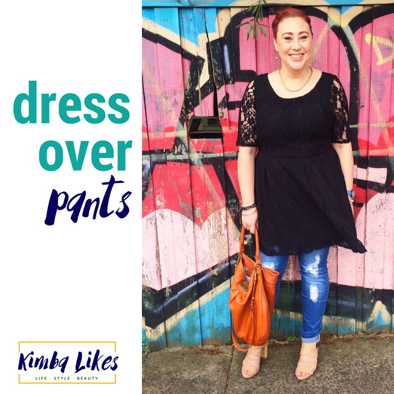 Kimba Likes | wearing dress over pants