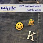 Kimba Likes | how to DIY embroidered patch jeans