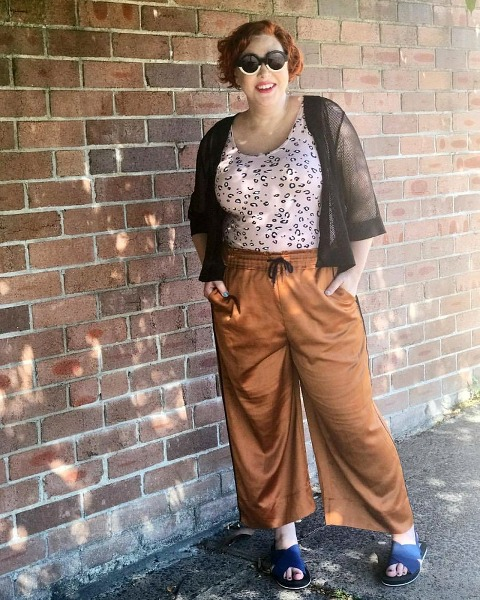 what The Thrifted Redhead wore for Autumn Style File | ASOS pants