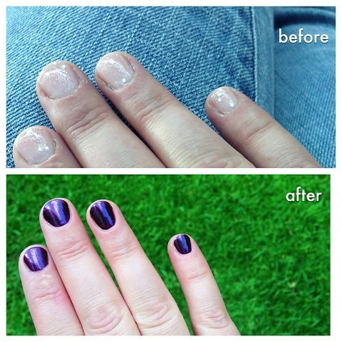 Cuticle Bootcamp before and after