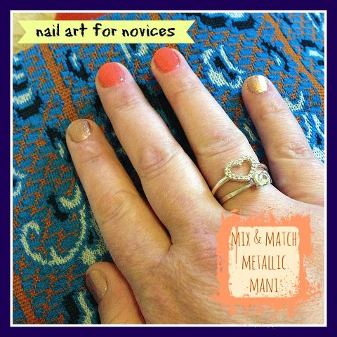 Nail Art for Novices Mix & Match Metallic Mani
