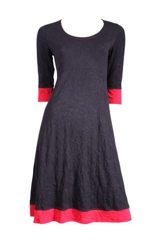 Verily navy and red dress product shot