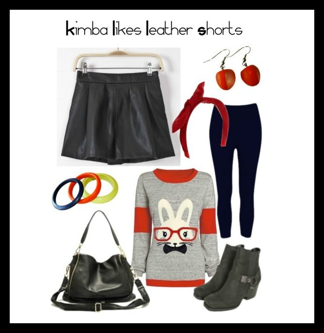 how to wear leather shorts