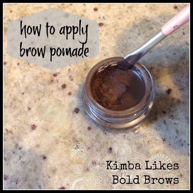 How to apply brow pomade