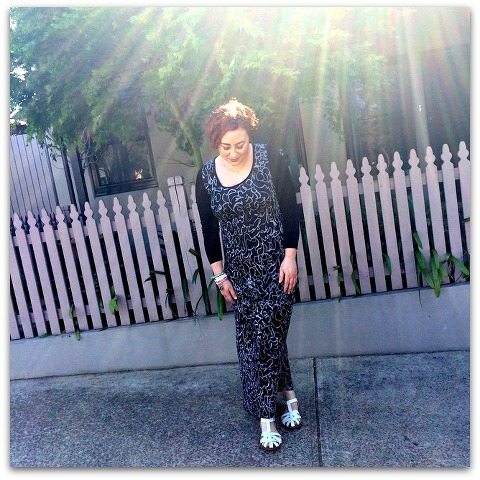 Kimba Likes Frocktober - wearing a Verily maxi dress for Day 1 2014