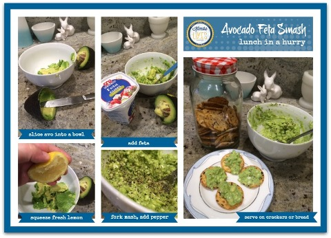 Kimba Likes Avocado Feta Smash - an easy peasy lemon squeezy lunch in a hurry