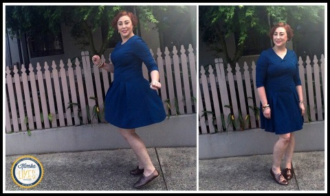 Kimba Likes Frocktober 2014 | Days 11 to 15 | wearing Portmans dress with New Look derby laceups from Payless Shoes