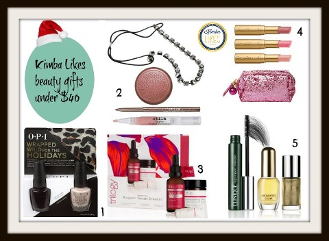 Kimba Likes Christmas Beauty Gifts under $40