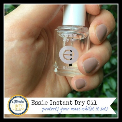 Kimba Likes Manicure Tips // Essie Instant Dry Oil