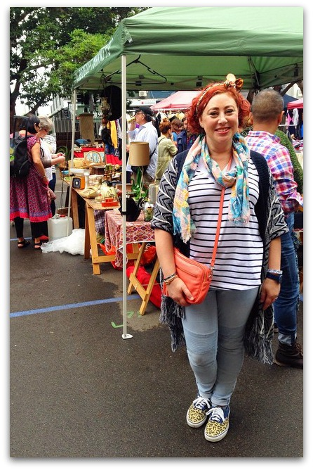 Rozelle Markets | wearing Country Road scarf, vintage scarf hairbow, Bohemian Traders tank, Esprit knit, Katies jeans, Vans, Witchery bag @kimbalikes #kimbalikes kimbalikes.com