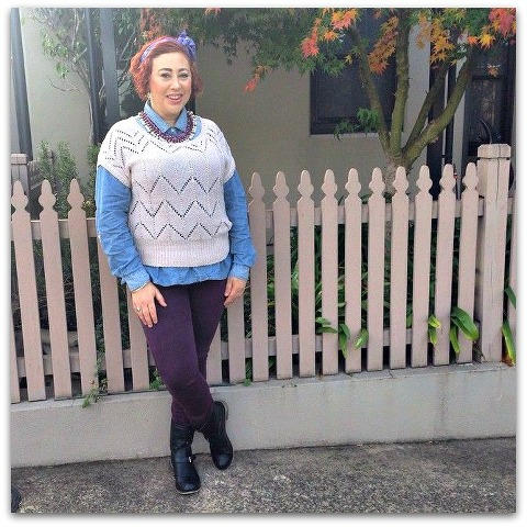 Kimba Likes how to layer short sleeve knits #kimbalikes