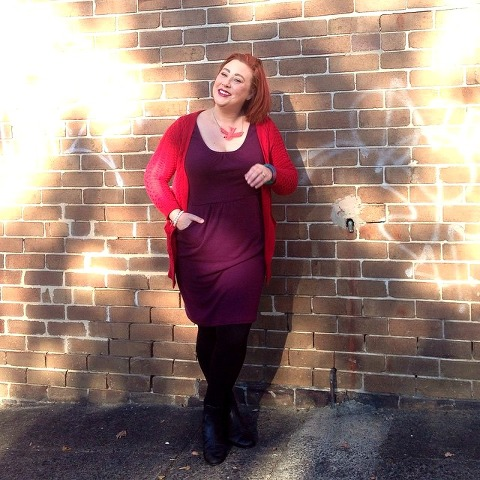Kimba Likes What I Wore   Red and Purple