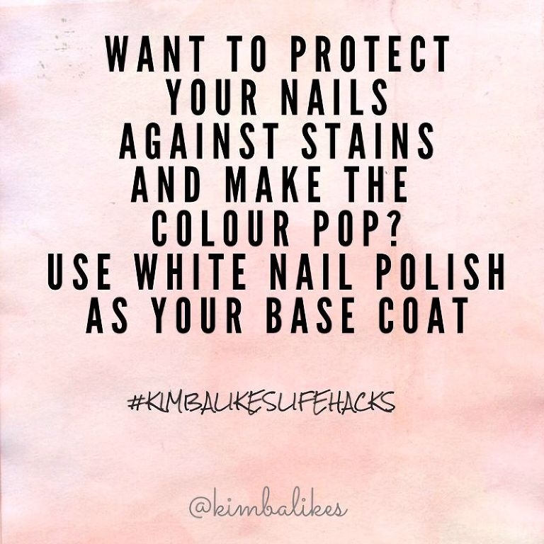 Kimba Likes Life Hacks - beauty tips, tricks and life hacks for nails #kimbalikeslifehacks #beauty #nails kimbalikes.com