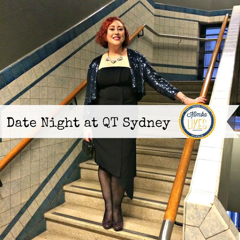 Kimba Likes Date Night at QT Sydney - wearing Country Road strapless sheath, Veronika Maine sequin jacket, Leona Edmiston Pins fishnets, Sambag heels, Adorn Collective necklace, Jessica Bratich clutch #styleblogger #datenight