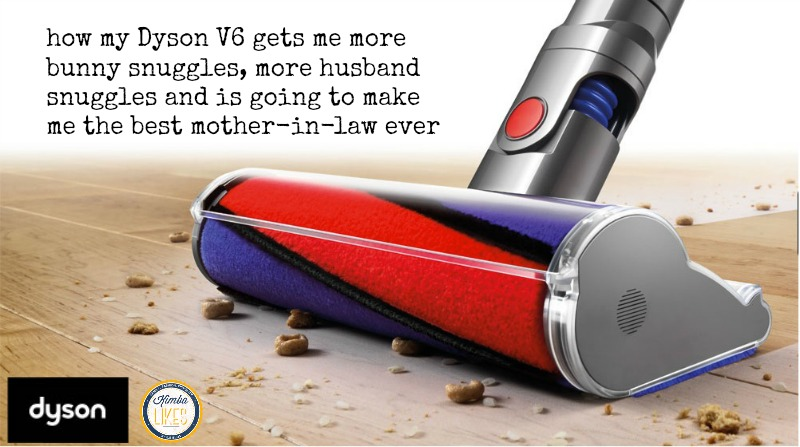 Kimba Likes my Dyson V6 Absolute - read on to find out why it's going to make me the best mother-in-law ever! #gifted #Dyson #kimbalikes