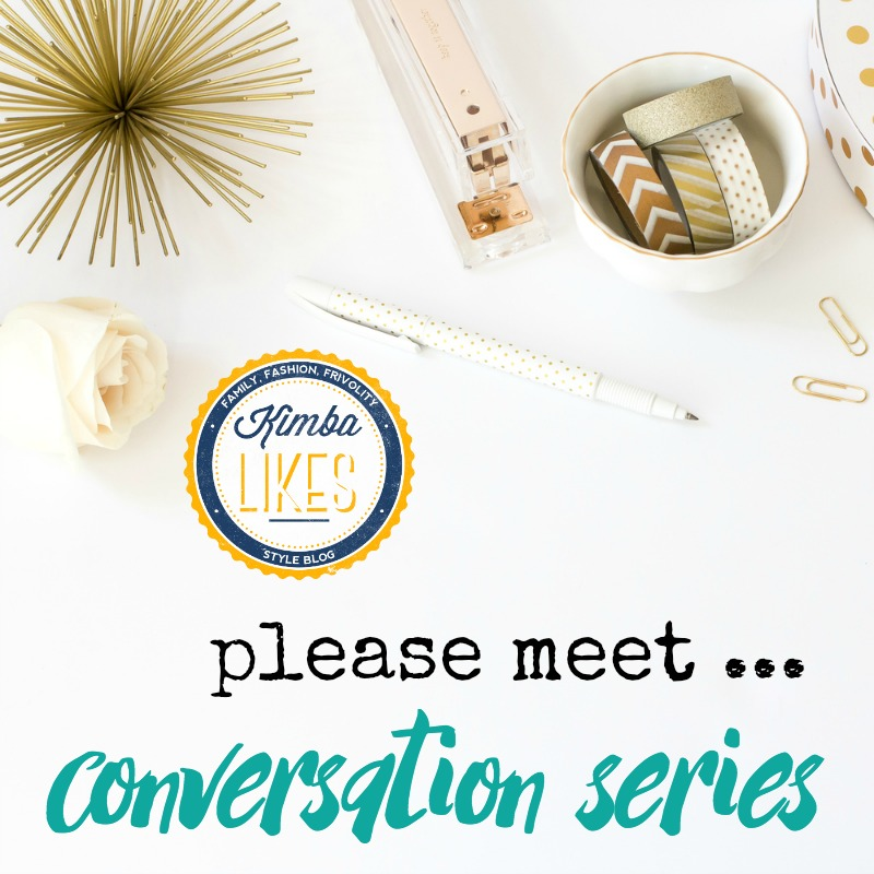 """The """"please meet ..."""" conversation series on Kimba Likes - all about getting to know some of my favourite bloggers and business owners"""