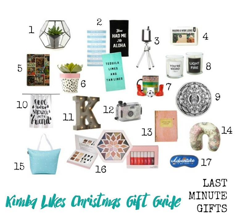 Kimba Likes Christmas Gift Guides - last minute Christmas gifts for guys and girls