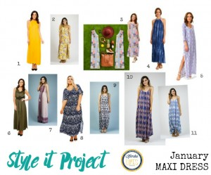 Kimba Likes Style it Project with Kimba Likes and The Illusive Femme - check out our hero piece for January. Let's go shopping for some gorgeous maxi dresses