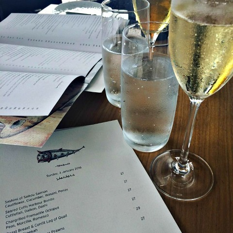 birthday lunch at Boathouse at Blackwattle Bay