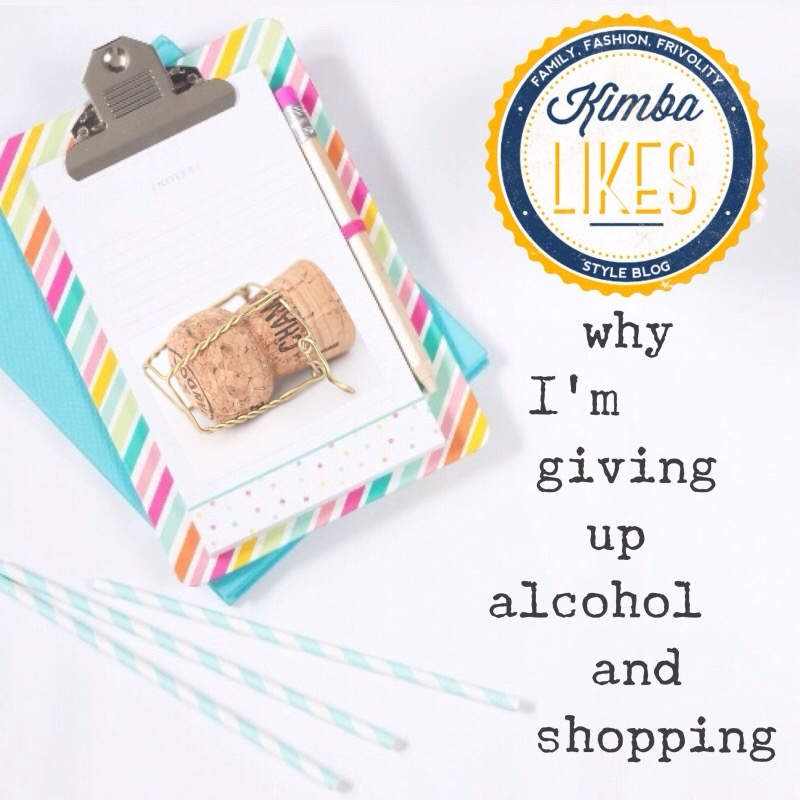 Kimba Likes looking at ways to live more mindfully. I'm giving up alcohol for February as well as undertaking a shopping ban. I know right! Sharing my tips on how to cope with both challenges