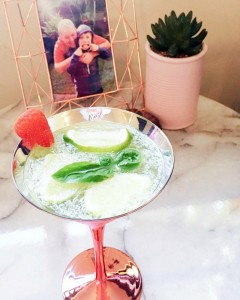 Kimba Likes my week in photos | prosecco cocktail in a gorgeous rose gold cocktail glass