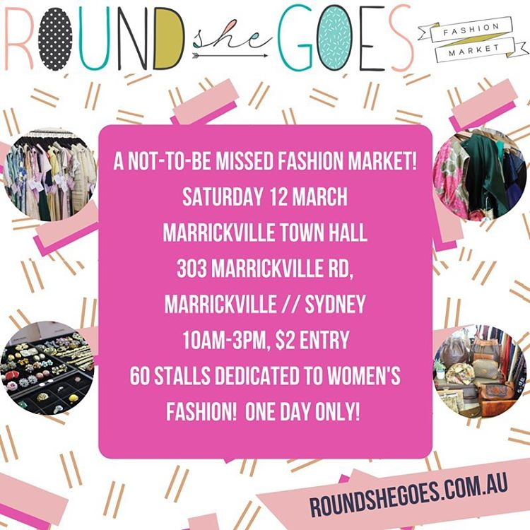 Kimba Likes Round She Goes - I'm so excited about popping my stallholder cherry on Saturday 12 March at the Marrickville Town Hall, Sydney. Come and say hi!