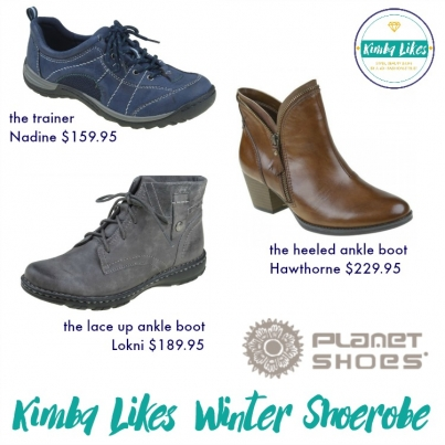 Planet Shoes Winter Shoerobe | the three shoes for my winter every day style from Planet Shoes