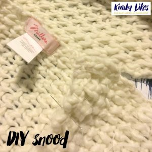 DIY Snood for Style it Project with Kimba Likes and The Illusive Femme