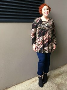 Ember Swing Tunic with Stretch Denim Jeans