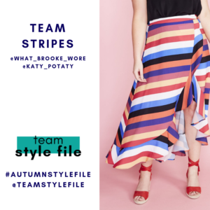 Team Stripes for March style challenge