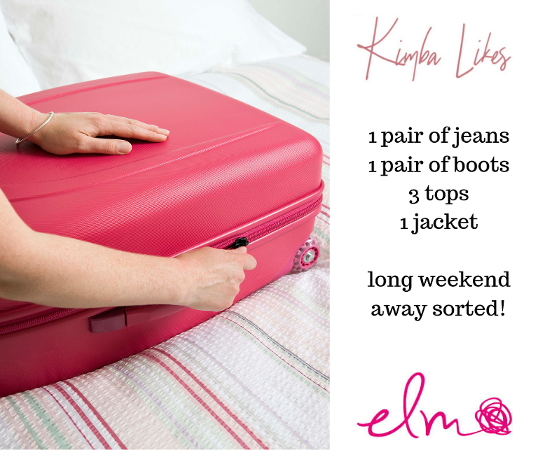 Kimba Likes | what to pack for a long weekend away